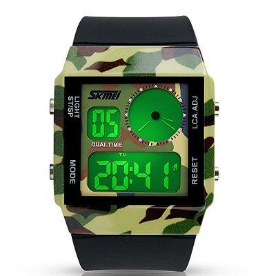 Relógio Masculino Skmei Digital 0841 - Verde Camuflado e Preto