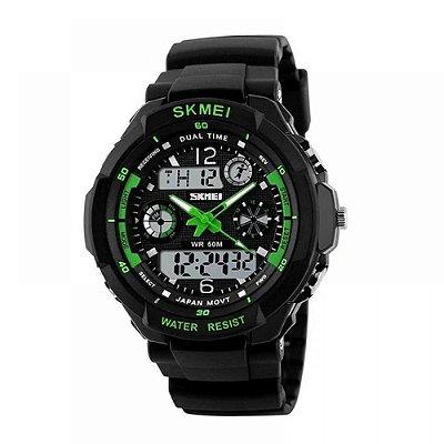 Relógio Masculino Skmei Anadigi 0931 Verde