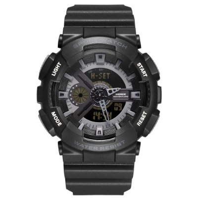 Relógio Masculino Weide AnaDigi WA3J8004 - Preto e Cinza