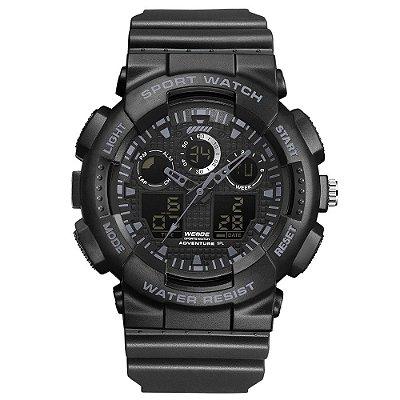 Relógio Masculino Weide AnaDigi WA3J8003 - Preto e Cinza