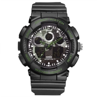 Relógio Masculino Weide AnaDigi WA3J8003 - Preto e Verde