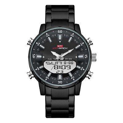 Relógio Masculino Kat-Wach AnaDigi KT1815 - Preto