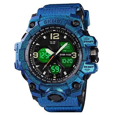 Relógio Masculino Skmei AnaDigi 1155B - Azul Brilhante