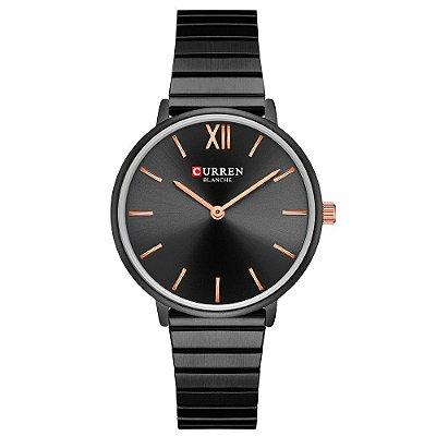 Relógio Feminino Curren Analógico C9040L - Preto