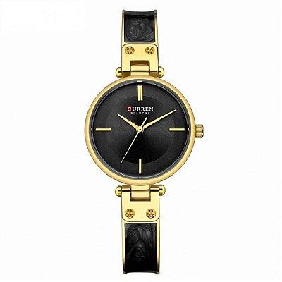 Relógio Feminino Curren Analógico C9058L - Dourado e Preto