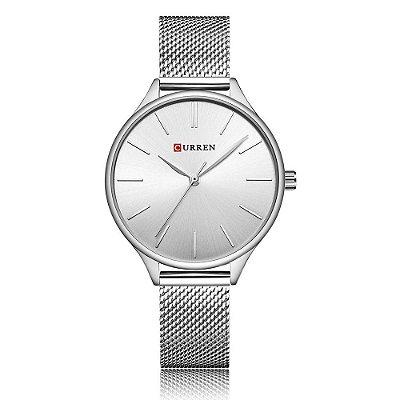 Relógio Feminino Curren Analógico C9024L - Prata