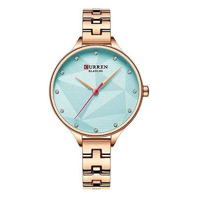 Relógio Feminino Curren Analógico C9047L - Rose e Azul