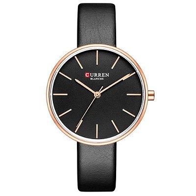 Relógio Feminino Curren Analógico C9042L - Rose e Preto