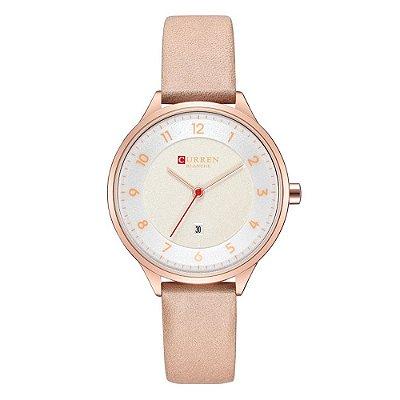Relógio Feminino Curren Analógico C9035L - Rosa