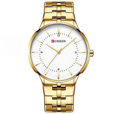 Relógio Masculino Curren Analógico 8321 - Dourado