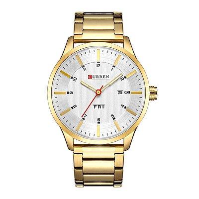Relógio Masculino Curren Analógico 8316 - Dourado e Prata