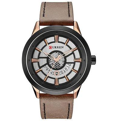 Relógio Masculino Curren Analógico 8330 - Preto e Marrom