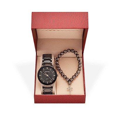 Relógio Feminino Skone Analógico 7199G - Pulseira - Preto