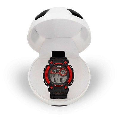 Relógio Masculino Skmei Digital 1054 - Preto e Vermelho