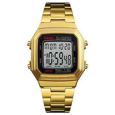 Relógio Unissex Skmei Digital 1337 - Dourado