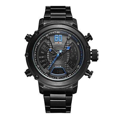 Relógio Masculino Weide AnaDigi WH-6905 - Preto e Azul