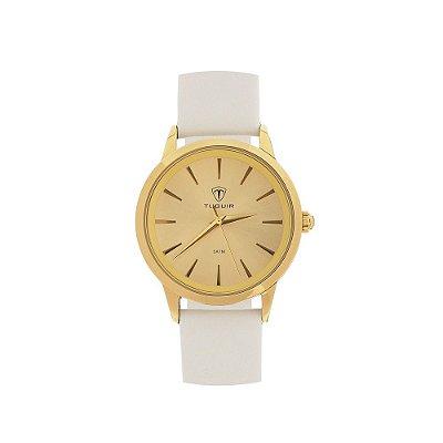 Relógio Feminino Tuguir Analógico TG106 - Dourado e Branco
