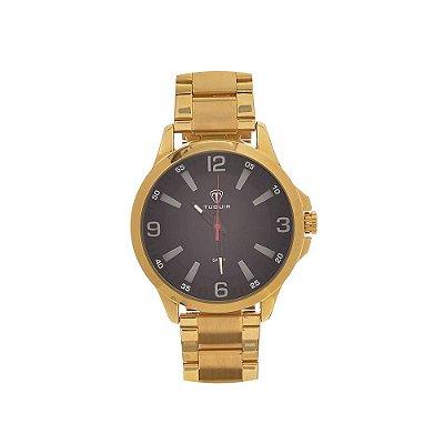 Relógio Masculino Tuguir Analógico TG100 - Dourado e Preto