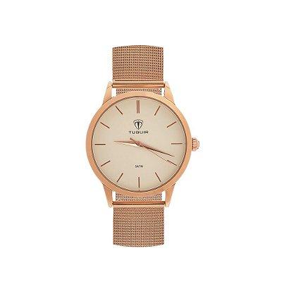 Relógio Feminino Tuguir Analógico TG106 - Rose e Branco