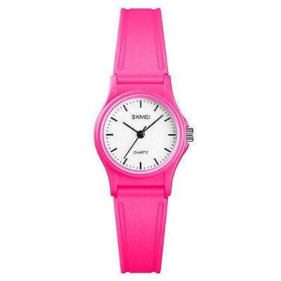 Relógio Infantil Menina Skmei Analógico 1401 - Pink