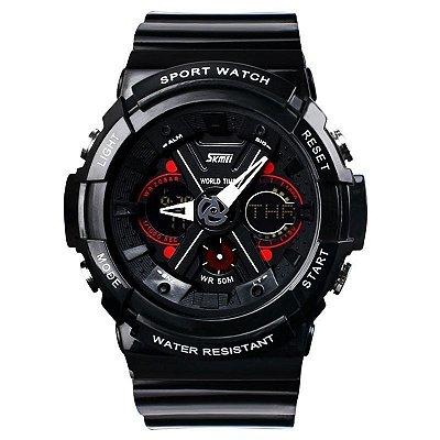 Relógio Masculino Skmei Anadigi 0966 Preto