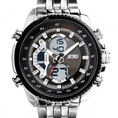 Relógio Skmei Anadigi 0993 Prata
