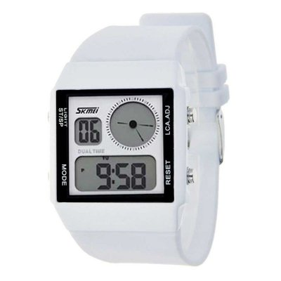 Relógio Masculino Skmei Anadigi 0841 Branco