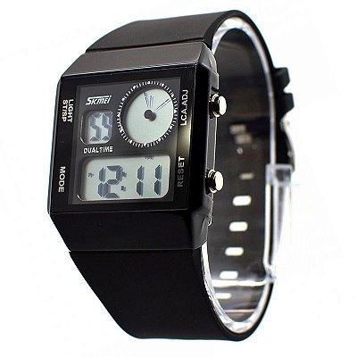 Relógio Masculino Skmei Anadigi 0841 Preto