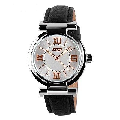 Relógio Feminino Skmei Analógico 9075 Preto