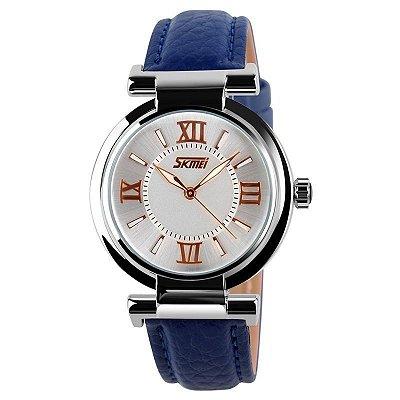 Relógio Feminino Skmei Analógico 9075 Azul