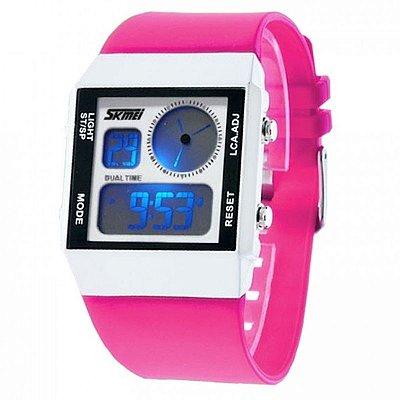 Relógio Feminino Skmei Anadigi 0841 Pink