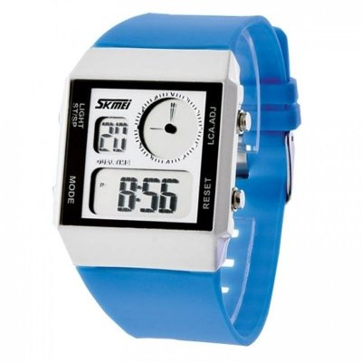Relógio Masculino Skmei Anadigi 0841 Azul