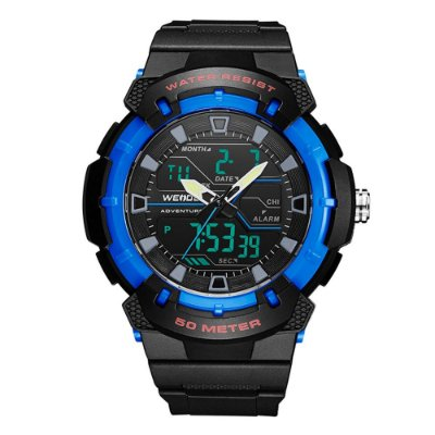 Relógio Masculino Weide AnaDigi WA3J8008 - Preto e Azul