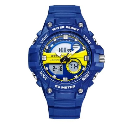 Relógio Masculino Weide AnaDigi WA3J8010 - Azul e Amarelo