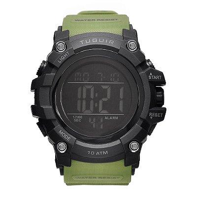 Relógio Masculino Tuguir 10ATM Digital TG109 - Preto e Verde
