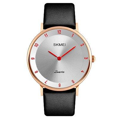 Relógio Unissex Skmei Analógico 1263 - Rosé e Vermelho