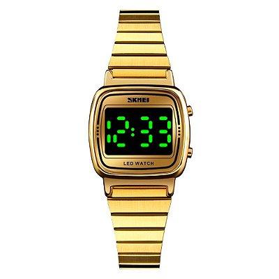 Relógio Feminino Skmei Digital 1543 - Dourado