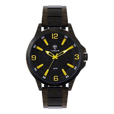 Relógio Masculino Tuguir Analógico TG100 - Preto e Amarelo