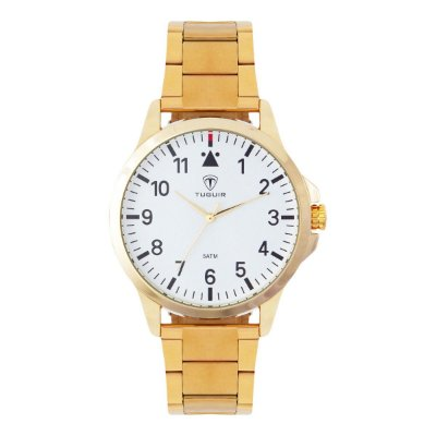 Relógio Masculino Tuguir Analógico TG100 - Dourado e Branco