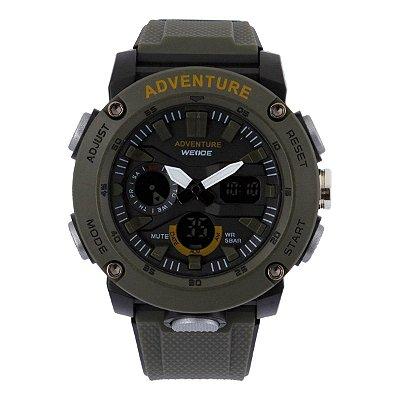 Relógio Masculino Weide AnaDigi WA3J9002 - Verde e Preto
