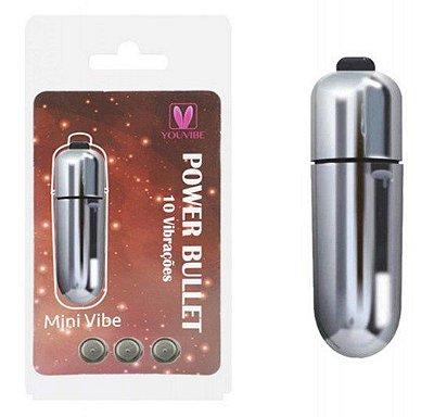 Cápsula Power Bullet  Mini Vibe 10 vibrações Cores Variadas - MV102