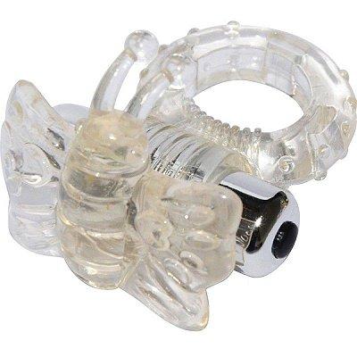 Anel Peniano com 7 Vibrações Estimulador Borboleta - AN019