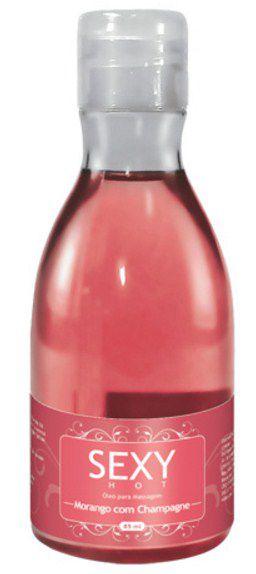 Óleo para Massagem Sexy Hot Morango com Champagne 85 ml - CO101