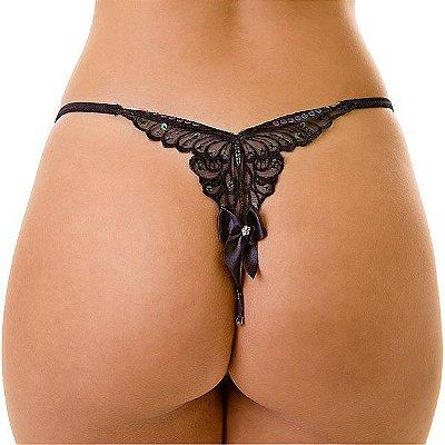 Tanga Butterfly com Bordado em Formato de Borboleta - LIN47