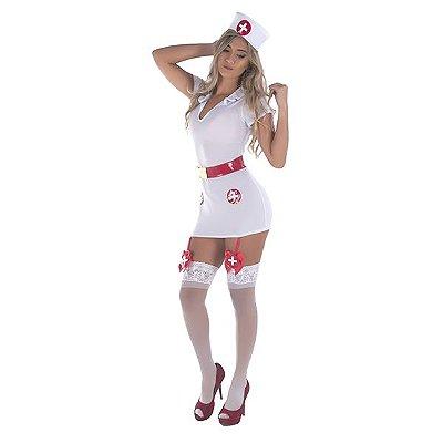 Conjunto Profissional da Saúde Vestido Curto + Tanga + Chapéu - LIN112