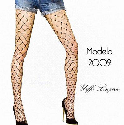 Meia Calça Arrastão Trama Grande - Yaffa Lingerie - Y2009