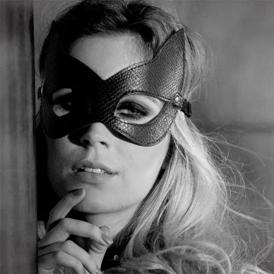 Máscara Kitten em Couro Sintético Phyton - 9070