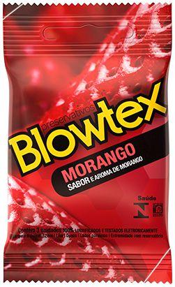 Preservativos Blowtex Morango com 3 Unidades