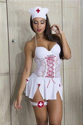 Fantasia Enfermeira Sexy Tam G - 00298
