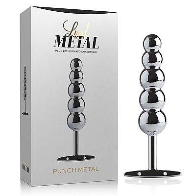 Plug Anal Lust Metal Punch Silver 15,3 cm x 3,2 cm x 6,5 cm Prata - LM03